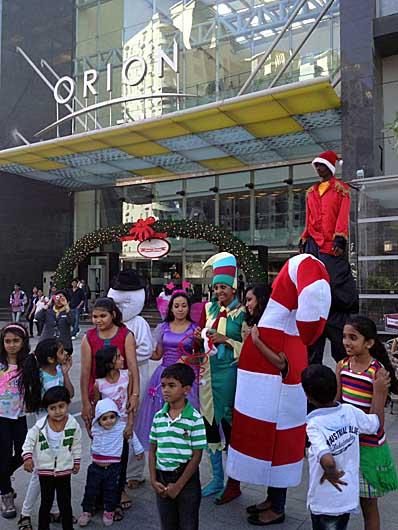 バンガロール クリスマス@ORIONモール