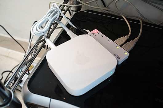 バンガロール AirMacを使ったWiFiプリントサーバ