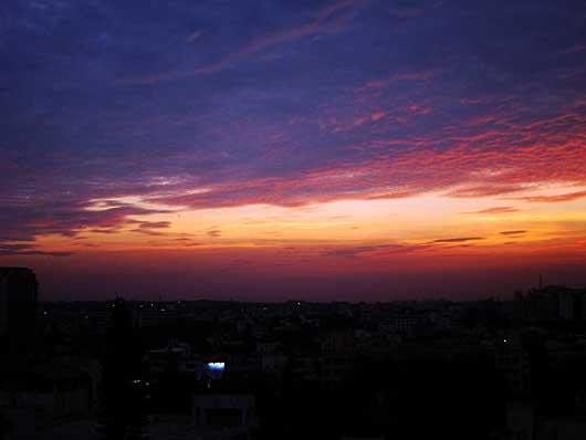 バンガロール 夕景