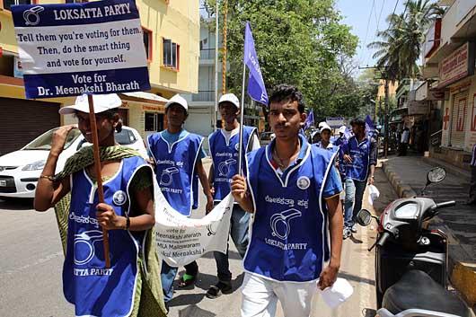 バンガロール 街宣活動