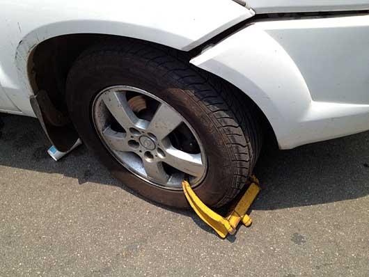 バンガロール 駐車違反