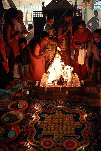 バンガロール お寺の儀式