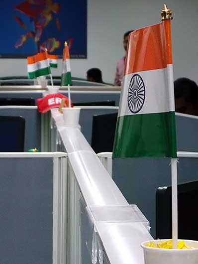 バンガロール 独立記念日の飾り