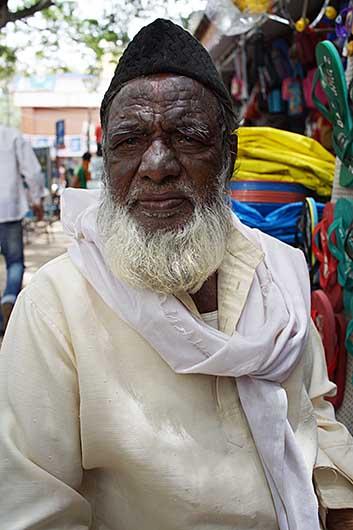 バンガロール ムスリムのおじいさん