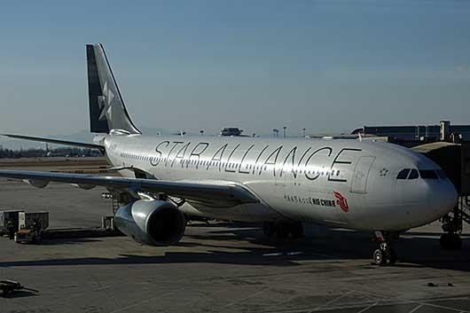 スターアライアンス塗装機 中国国際航空