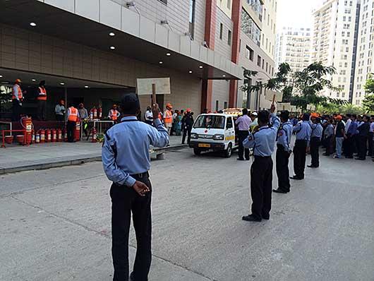 バンガロール 避難訓練