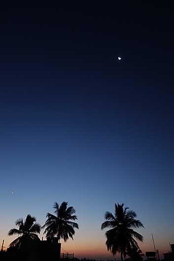 バンガロール 日の出前