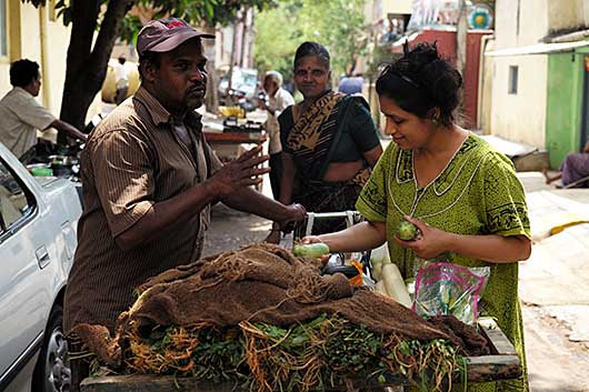 バンガロール 買い物風景