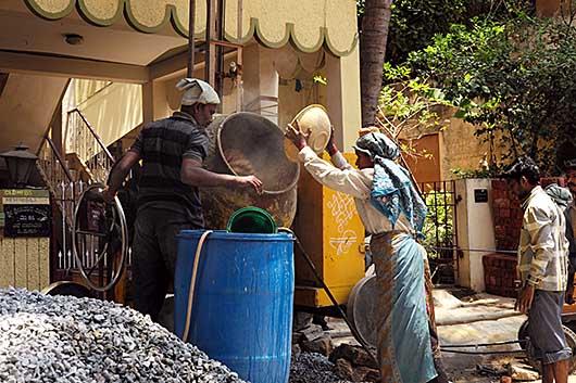 バンガロール 建築労働者