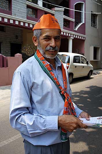 バンガロール BJPの選挙運動員