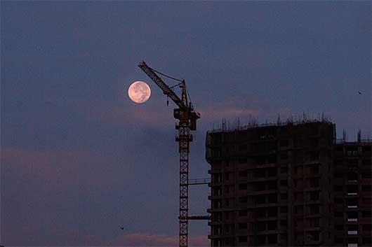 2014年6月14日 早朝 満月 ハニームーン