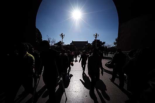 北京 端門から天安門を見る