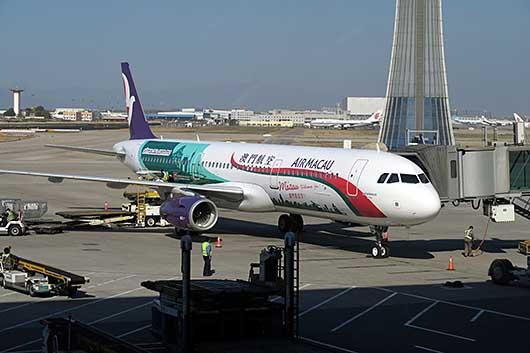 マカオ航空 特別塗装機 @ 北京空港