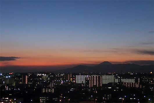 富士山 夕景