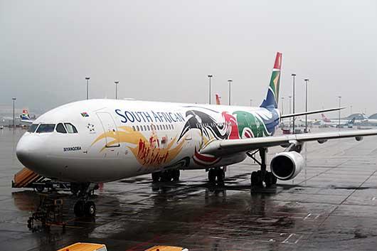 南アフリカ航空 ロンドンオリンピック 特別塗装機