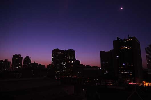 北京の朝 2015年1月16日