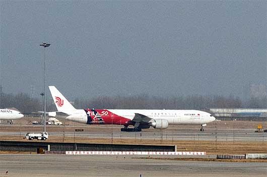 中国国際航空 中法建交50周年 特別塗装機@北京
