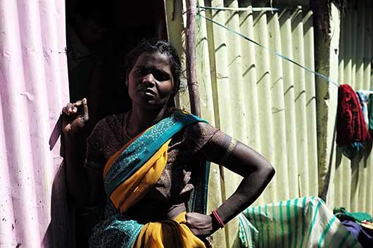 バンガロール スラムの一角