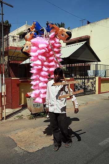 バンガロール 綿菓子売り