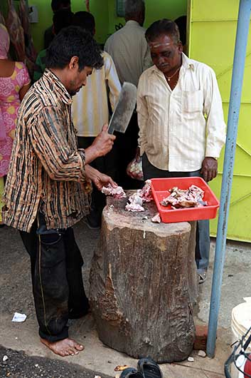 バンガロール 羊肉屋