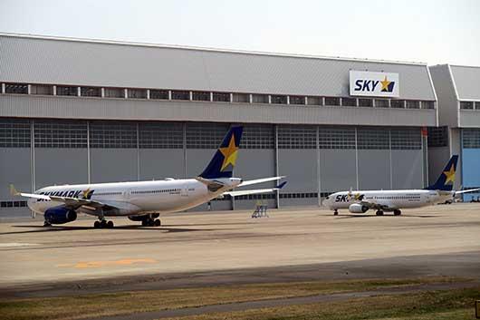 Skymark A330 & B737 羽田