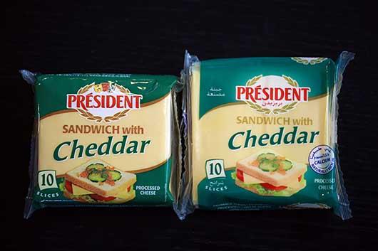 Presidentチーズ フランス製とサウジ製