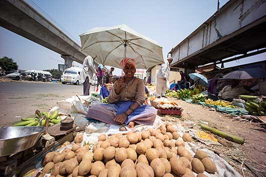 バンガロール 青空市場
