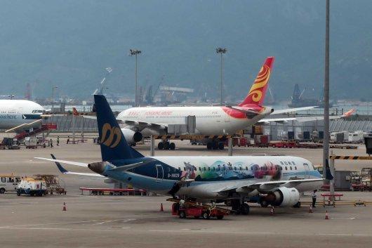 マンダリン航空 特別塗装機@香港