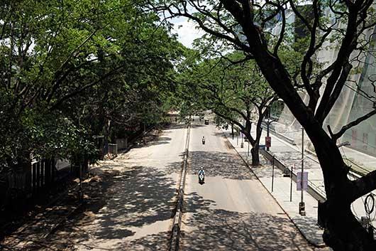 バンガロール ストの日の道路