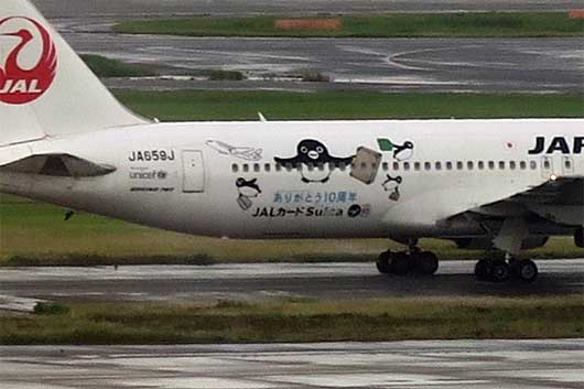 JALカードSuica特別塗装機