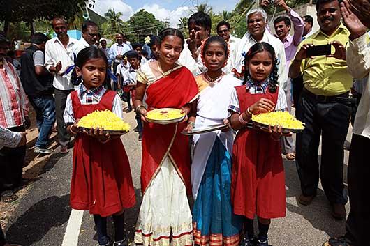 CSR活動@Maharaja Katte Village, Kanakapura